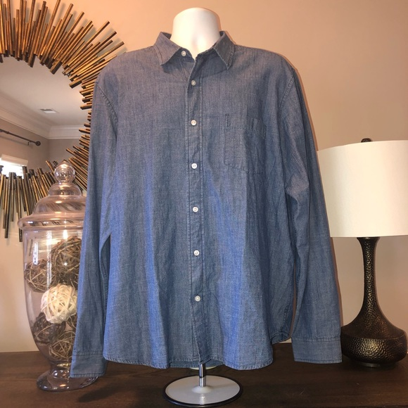 Olde School by Tailor Vintage Mens Reversible Woven Button Down Shirt